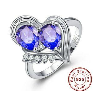 Waterdrop Heart Shape Rainbow & White Topaz Tanzanite Ring for Sale in Wichita, KS