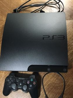 MINT CONDITION PlayStation 3 Slim 160 GB— Includes Cords, OEM DualShock 3, And CALL OF DUTY BLACK OPS for Sale in Denver, CO