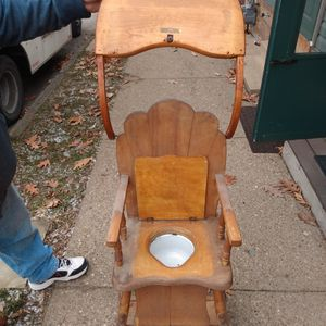 Antique High CHAIR, Potty Chair And Stroller W/ Original Toy Beads. for Sale in Pittsburgh, PA