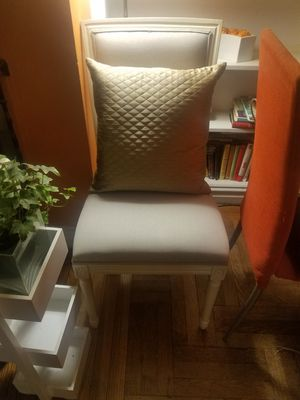 Chair set of two in neutral tones for Sale in New York, NY