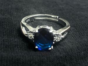 Sterling Silver Blue Oval CZ for Sale in Las Vegas, NV