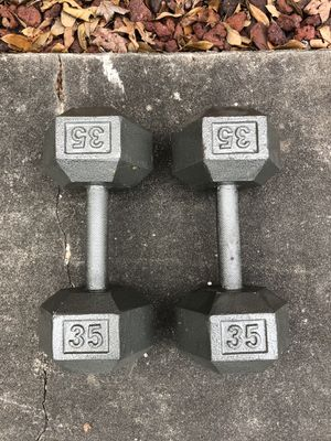 Dumbbells 35 lbs for Sale in Houston, TX