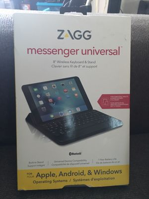 Brand new Messenger universal 8 inch wireless keyboard and stand Zagg for Apple android and windows for Sale in Columbia, SC