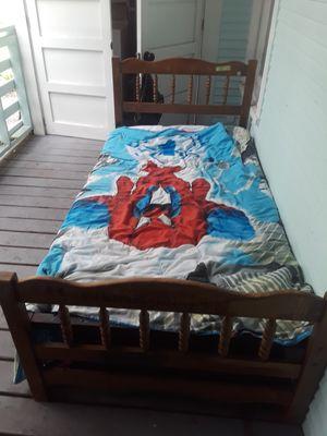 Vintage Solid Wood Bed for Sale in Jacksonville, FL
