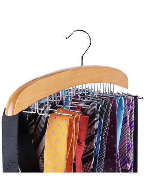 Wooden Tie Organizer, 24 Tie Hanger Hook Storage Rack, Closet Accessory Organizer for Sale in Emerald Hills, CA