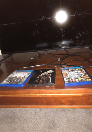 PS4 slim, tv and 3 games for Sale in Denver, CO