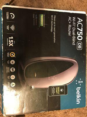 Belkin AC750 Wi-Fi Dual-Band AC+Router $18.00 for Sale in Detroit, MI