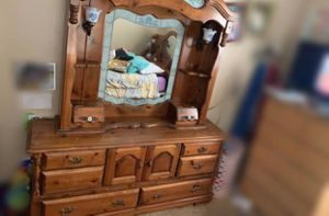 Oak dresser and mirror for Sale in Brownwood, TX