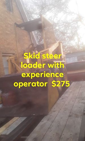 Skid steer loader with experience operator for Sale in Dallas, TX
