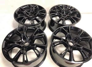 20x10 gloss black Jeep Grand Cherokee wheels srt8 model factory for Sale in Macomb, MI