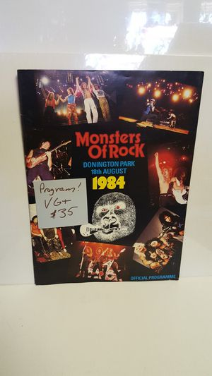 Monsters of Rock Program for Sale in Mifflinburg, PA