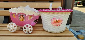 Baskets for girls bikes for Sale in Pickerington, OH