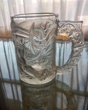 1995 BATMAN Forever McDonalds 3D Embossed set 4Glass mug set for Sale in St. Petersburg, FL