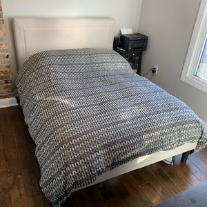 Full Bed Upholstered headboard, bed frame, and mattress for Sale in Washington, DC