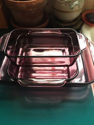 3 piece Pyrex baking set for Sale in Edgewood, WA