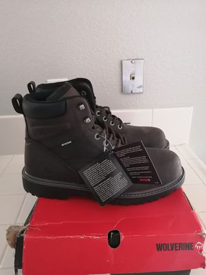 Brand new wolverine work boots for men. Size 12. Soft toe. Waterproof for Sale in Riverside, CA