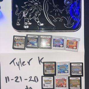 """New"" Model Pokemon Nintendo 3DS with 11 Authentic Pokemon Games for Sale in Costa Mesa, CA"