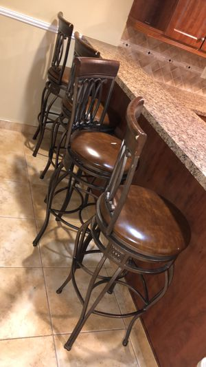 Leather bar stools-4 for Sale in Dearborn Heights, MI