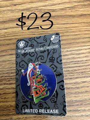 Disney Authentic Halloween Trading Pin. NBC Jack Skellington for Sale in Lakewood, CA