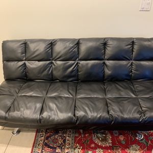 Faux Leather Futon Couches for Sale in Los Angeles, CA