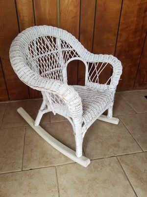 Kids wicker rocking chair for Sale in Burnet, TX