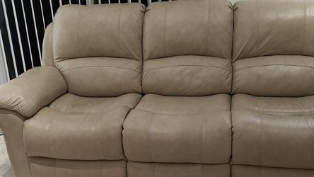 Vercelli Stone Leather Reclining Sofa And Loveseat for Sale in Hollywood,  FL