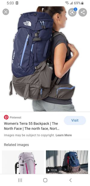 North Face Terra 55 women's hiking backpack for Sale in Pflugerville, TX
