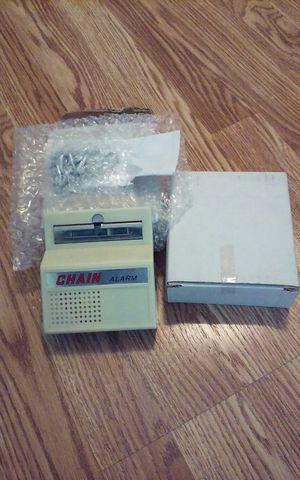 I have 2 Chain Burglar alarm for door insert AA batteries Band new each $10 for Sale in Pawtucket, RI