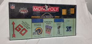 Rams champion edition Monopoly board game UNOPENED! for Sale in Raleigh, NC