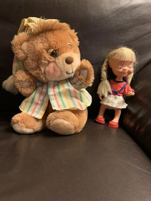 Sweet Doll and Teddy Bear for Sale in Camas, WA