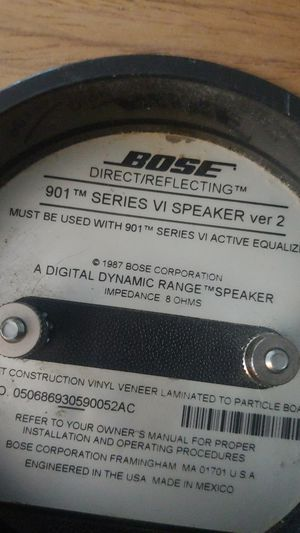 Bose 901 Series ver 2 for Sale in Bowie, MD