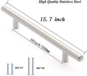 """( 10 Pack ) 16"""" Overall Length,10"""" Hole Centers Stainless Steel Kitchen Cabinet Handles T Bar Pull for Sale in Tamarac, FL"""