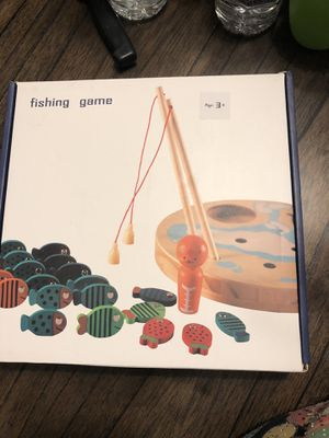 Lydaz 4.5 out of 5 Lydaz 30 PCS Wooden Magnetic Fishing Game for Sale in North Las Vegas, NV