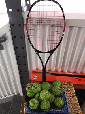 Tennis racket and balls for Sale in Hillsboro, OR