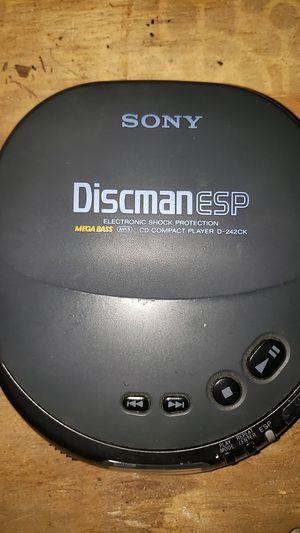 Sony Discman CD player Walkman used but working, no headphones for Sale in Odessa, FL