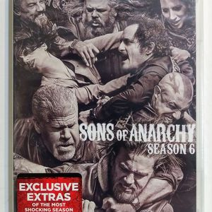 SONS OF ANARCHY Season 6 6th Six 5 DVD Disc Set Brand New and Sealed for Sale in Garland, TX