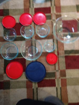 Pyrex glass storage and mixing bowls for Sale in Chester, PA