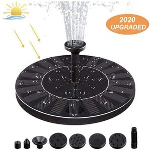 Solar Fountain Pump for Bird Bath, Outdoor Solar Water Fountain Pump Garden Fountain with Free Standing Floating Birdbath Water Pumps for Garden, Pat for Sale in Santa Ana, CA