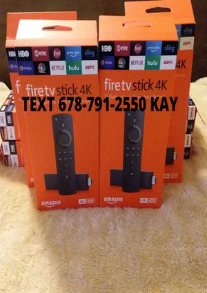 All New / Unlocked /4K HDR Amazon Fire TV Stick for Sale in Ellenwood, GA