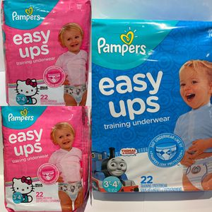 *NEW* Pampers 2 GIRL & 1 BOY Easy Ups Training Underwear, 22 count for Sale in San Diego, CA