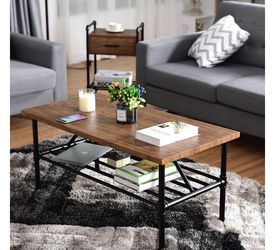 2-Tier Living Room Furniture Shelf Coffee Table HW58647 for Sale in Rowland Heights,  CA
