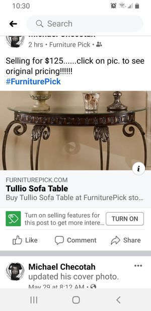 TULLIO Sofa Table by ASHLEY for Sale in Tulsa, OK