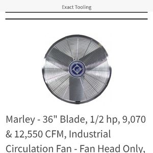 Marley Industrial Fan Head for Sale in San Luis Obispo, CA