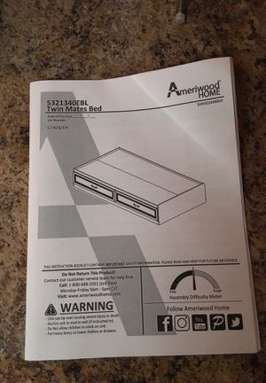 Ameriwood home Bed frame/dresser for Sale in Middlefield, OH