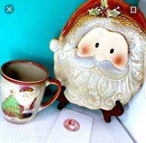Santa Cookie Plate and Hot Cocoa Mug Set for Sale in Lake Wales, FL