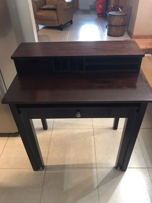 Roll out desk with hutch. for Sale in Jupiter, FL