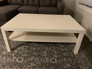 White lack ikea coffee table for Sale in Tampa, FL