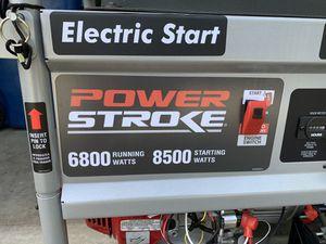 Power Stroke 6800W electric start generator for Sale in Renton, WA