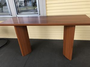 Modern wood console table for Sale in Portland, OR