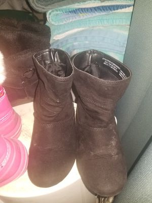 Girls Black Boots 11 (Both sets) for Sale in Wakefield, MA